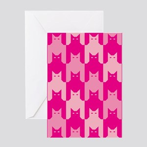 Pink CatsTooth Greeting Cards