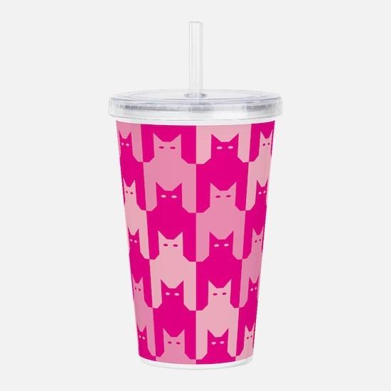 Pink CatsTooth Acrylic Double-wall Tumbler