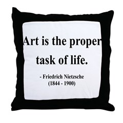 Nietzsche 24 Throw Pillow