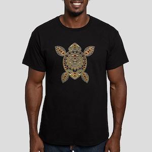 Maori Turtle Styl Men's Fitted T-Shirt (dark)