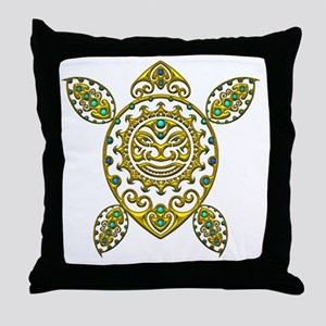 Maori Turtle Styl 2 Throw Pillow