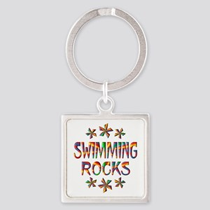 Swimming Rocks Square Keychain