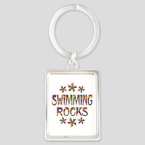 Swimming Rocks Portrait Keychain