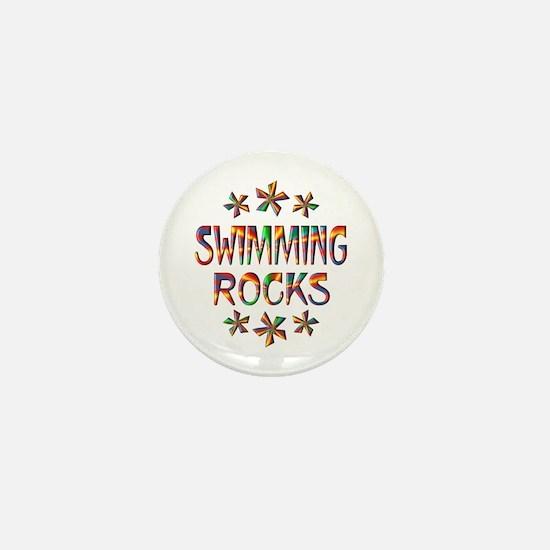 Swimming Rocks Mini Button