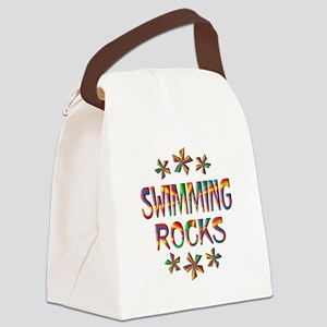 Swimming Rocks Canvas Lunch Bag