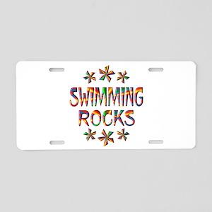 Swimming Rocks Aluminum License Plate