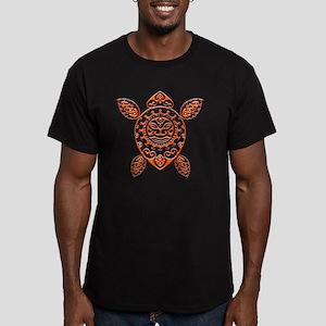 Maori Turtle Styl 14 Men's Fitted T-Shirt (dark)