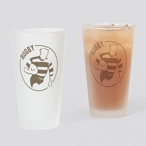 Classic Rugby Drinking Glass
