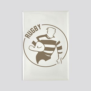 Classic Rugby Rectangle Magnet