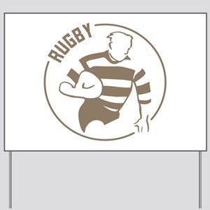 Classic Rugby Yard Sign