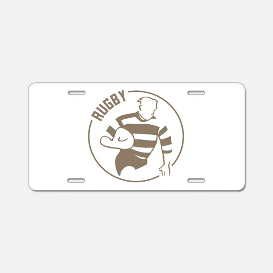 Classic Rugby Aluminum License Plate