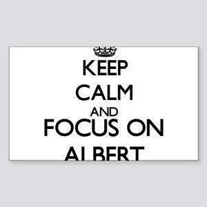 Keep calm and Focus on Albert Sticker