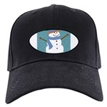 Snowman in Snow Baseball Hat