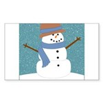 Snowman in Snow Sticker