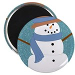 Snowman in Snow Magnets