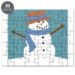 Snowman in Snow Puzzle