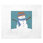 Snowman in Snow King Duvet