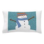 Snowman in Snow Pillow Case