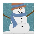 Snowman in Snow Tile Coaster