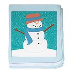 Snowman in Snow baby blanket