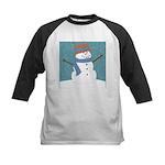 Snowman in Snow Baseball Jersey
