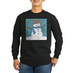 Snowman in Snow Long Sleeve T-Shirt