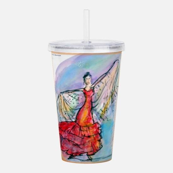 Flamenco dancer, art! Acrylic Double-wall Tumbler