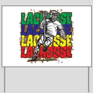Lacrosse Action Yard Sign