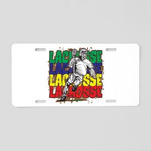Lacrosse Action Aluminum License Plate