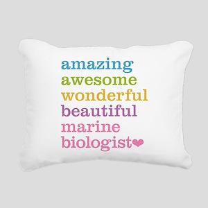 Marine Biologist Rectangular Canvas Pillow