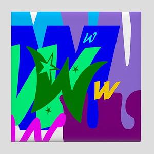 Initial Design (W) Tile Coaster
