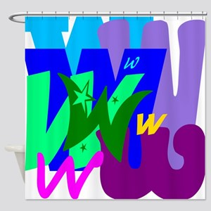 Initial Design (W) Shower Curtain
