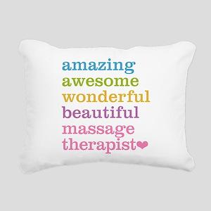 Massage Therapist Rectangular Canvas Pillow