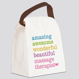 Massage Therapist Canvas Lunch Bag