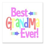 Best Grandma Ever Square Car Magnet 3