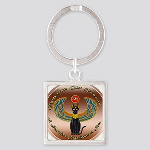 Egyptian Cat Rescue of America Square Keychain
