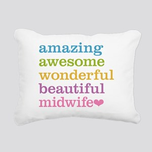 Awesome Midwife Rectangular Canvas Pillow