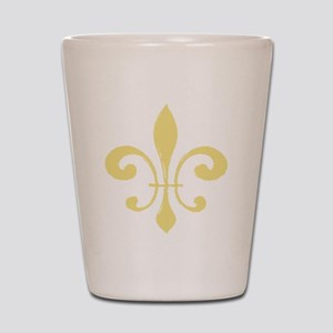 Gold Fleur De Lis Shot Glass