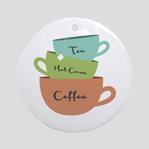 Hot Drinks Ornament (Round)