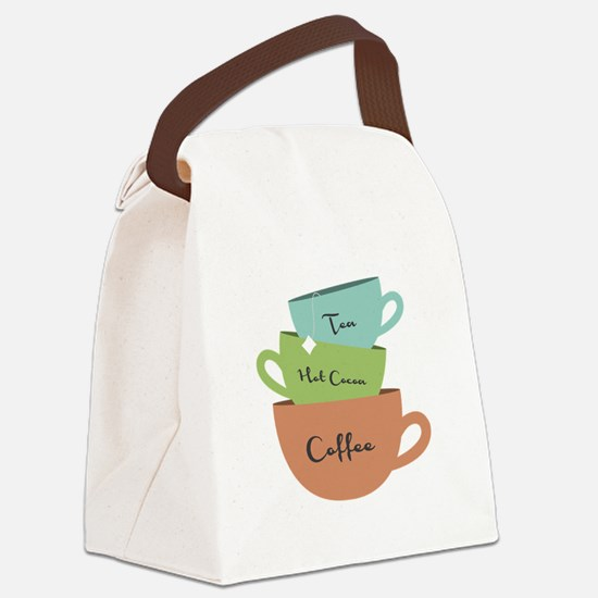 Hot Drinks Canvas Lunch Bag