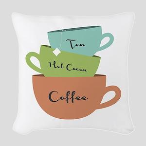 Hot Drinks Woven Throw Pillow