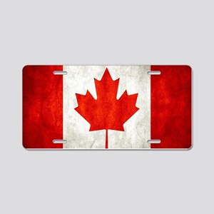 Vintage Canadian Flag Aluminum License Plate