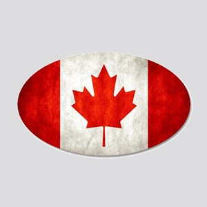 Vintage Canadian Flag Wall Decal