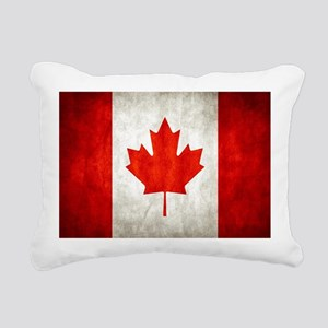 Vintage Canadian Flag Rectangular Canvas Pillow