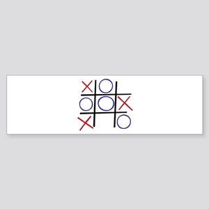 Tic Tac Toe Bumper Sticker