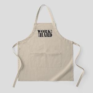 Work Out Get Hard - solid black Apron
