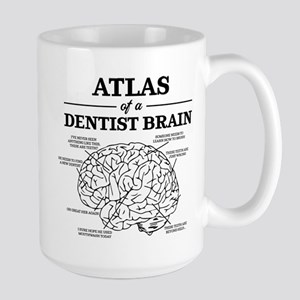Atlas of a Dentist Brain 15 oz Ceramic Large Mug