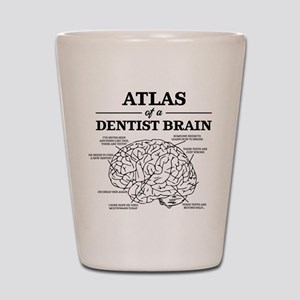 Atlas of a Dentist Brain Shot Glass