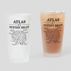 Atlas of a Dentist Brain Drinking Glass