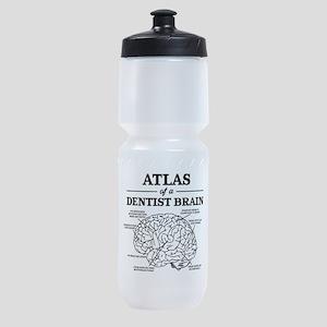 Atlas of a Dentist Brain Sports Bottle